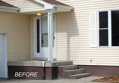 Small Porch Needing Curb Appeal