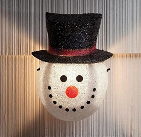 snowman porch light covers