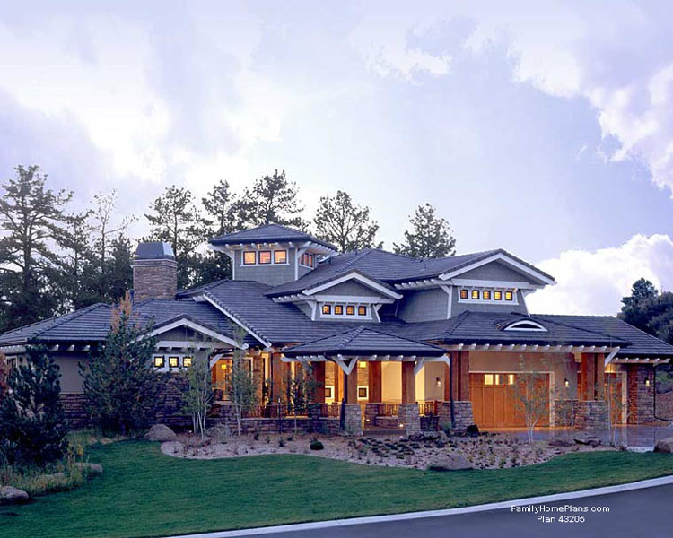 beautiful southwestern home design with front and back porches