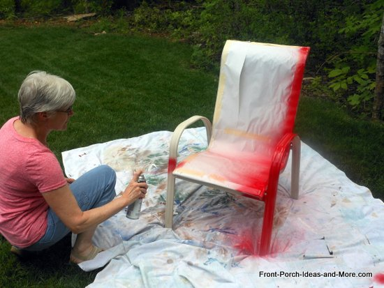 painting the chair red