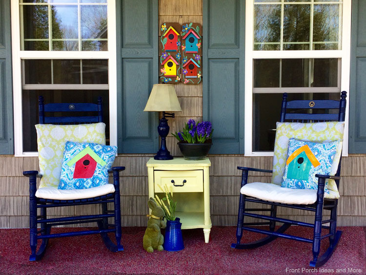 Spring Porch Decorating Ideas Birdhouses