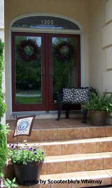 Before picture of spring porch makeover