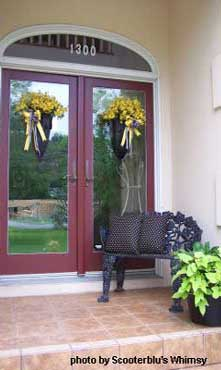 After picture of spring porch makeover