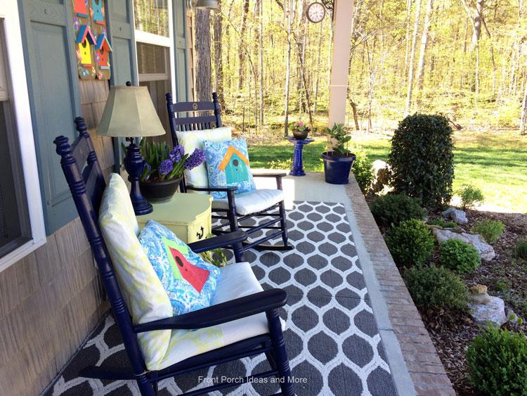 Our spring decor with a birdhouse theme