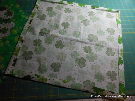 pillow toppers - turn the raw edges under