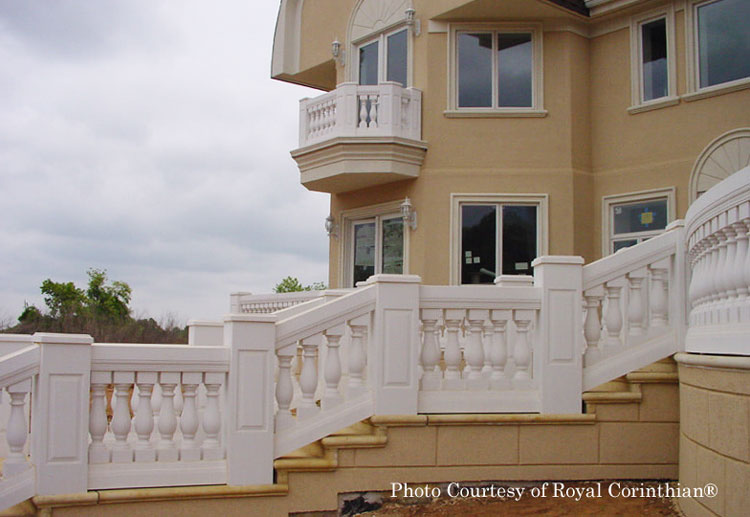 Royal Corinthian® fiberglass staircase balustrade