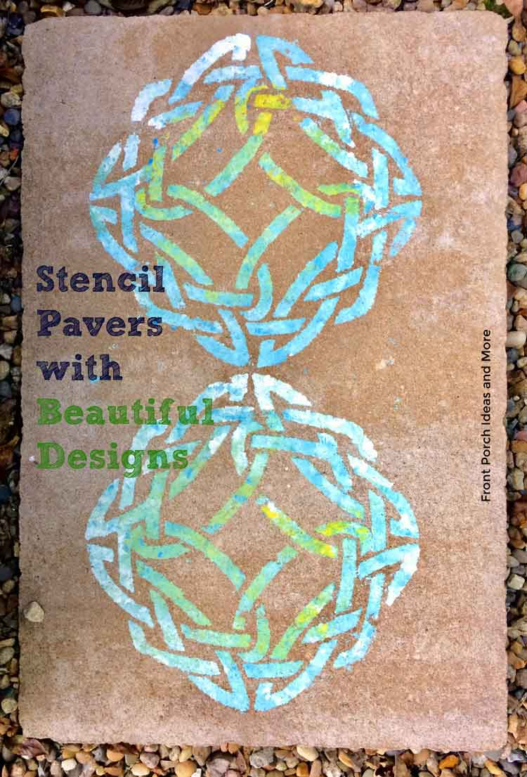 stenciling pavers for a small patio area