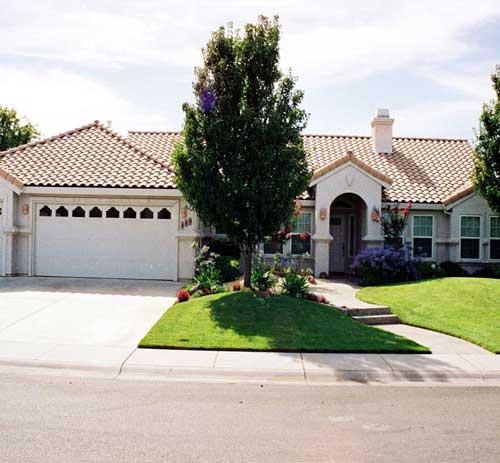 Ranch style portico-Plan 43672