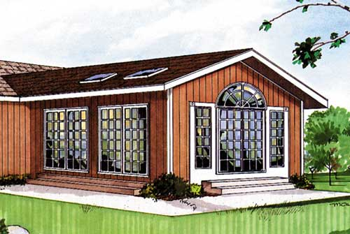 DIY four season room with typical gable roof design