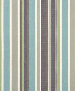 Striped blue and gray Sunbrella fabric found on Amazon