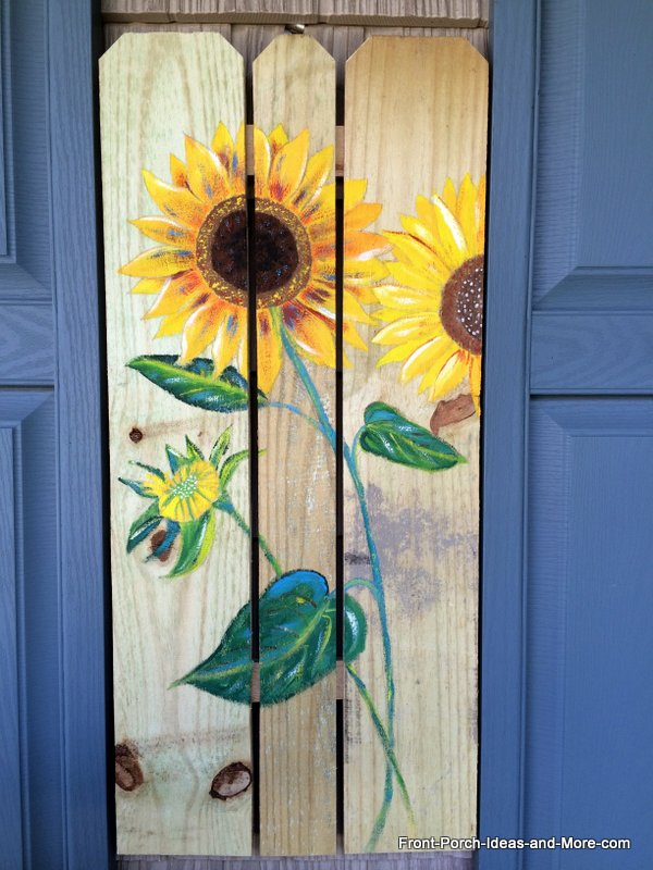 sunflower painting i did for our porch - Sunflower Decorations