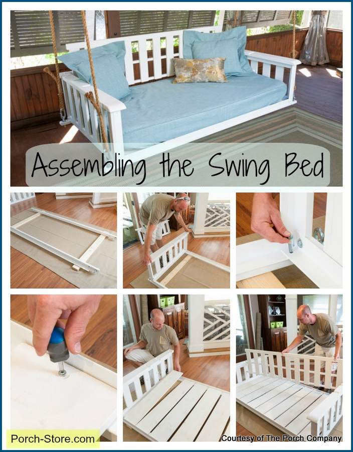 easy to assemble the porch swing bed from The Porch Company