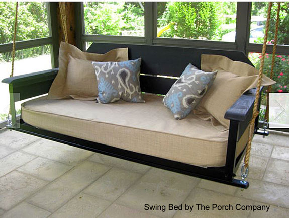 custom swing bed by The Porch Company