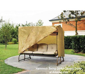 Canopy swing glider cover on patio