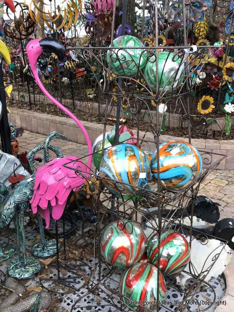 Yard Art Emporium - swirly gazing-balls