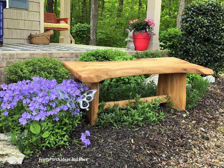 diy sycamore garden bench
