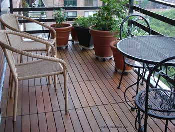 deck tiles installed on terrace