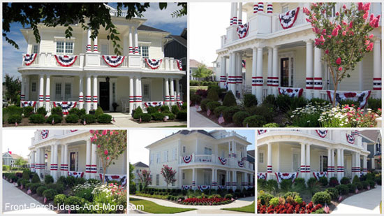 patriotic porch contest winner from McKinney, Texas