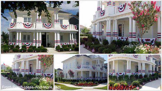 patriotic porch contest winner from McKinney, Texas