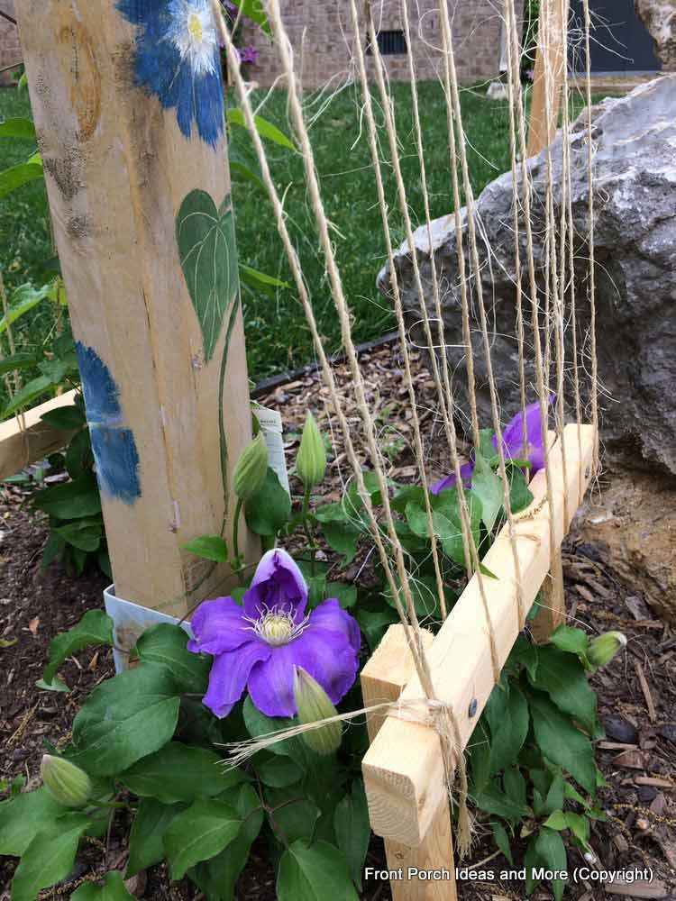 trellis made with twine for clematis