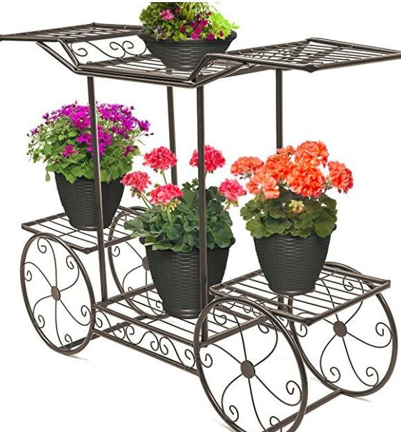 Two tier garden cart