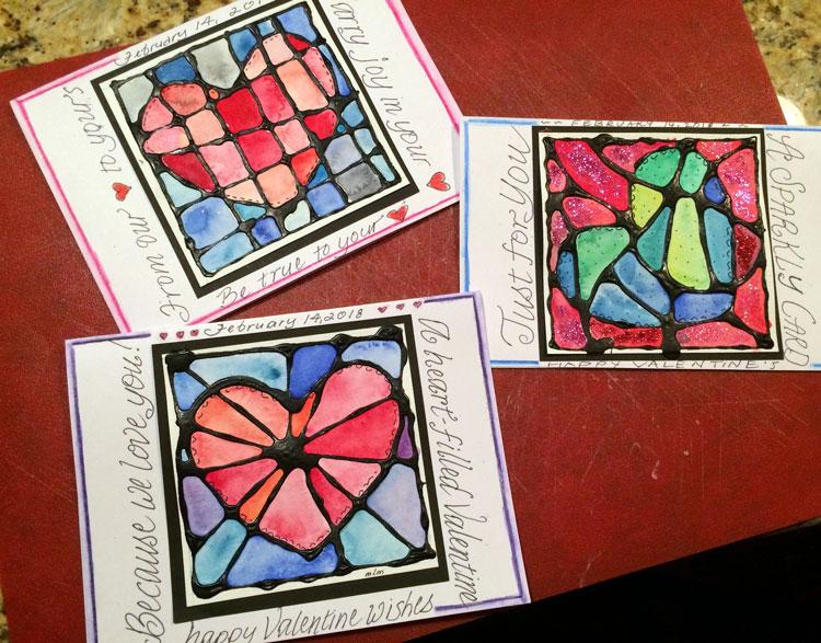 mosaic valentine cards