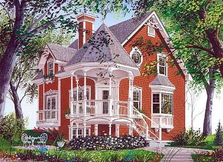 Great unique Victorian porch idea