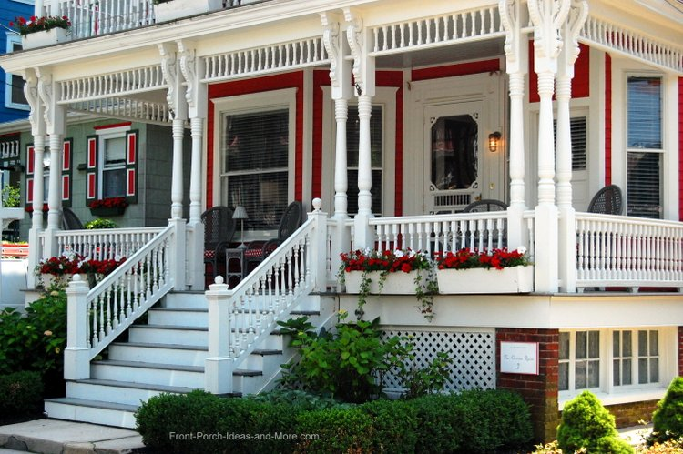 Beautiful Victorian home painted red
