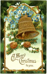 Vintage Christmas bell - vintage image from Old Design Shop