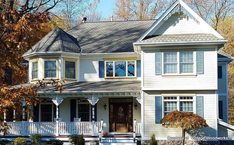 Beautiful Victorian home with Vintage Woodworks porch parts