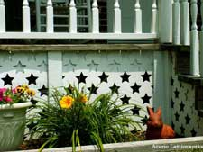 custom vinyl lattice panels used for porch skirting