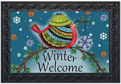 Welcome bird doormat