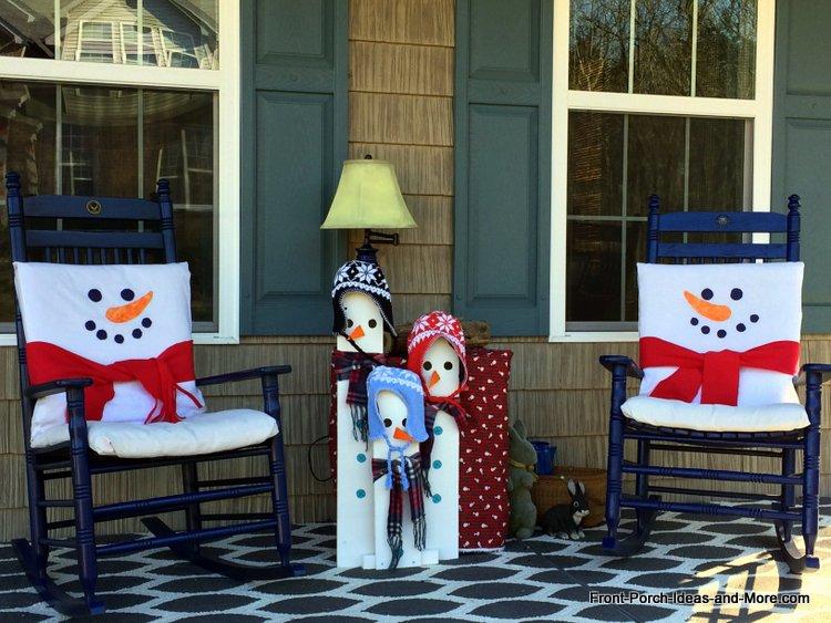 our snowman porch