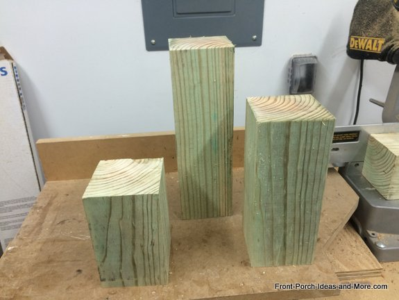 This project requires three blocks of wood or even just 1 larger piece of wood