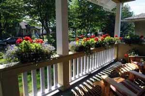 Porch railing planters