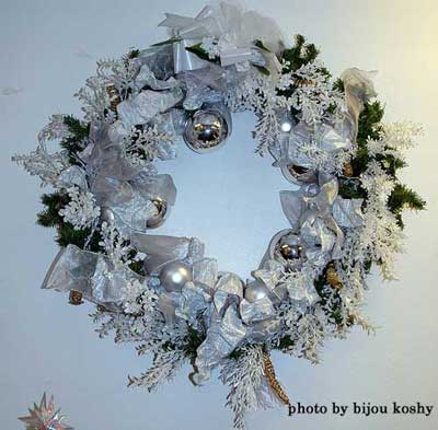 hand-made Christmas wreath