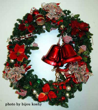 Christmas hand-made front door wreath