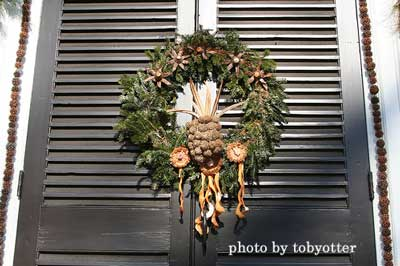 frosted evergreen Christmas wreath