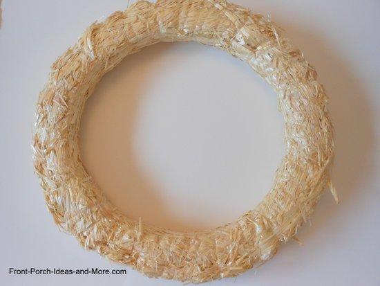 begin with a straw wreath