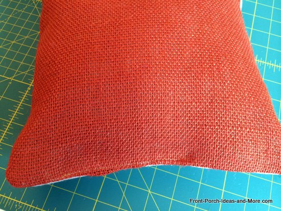 I sewed the pillow shut using my sewing machine