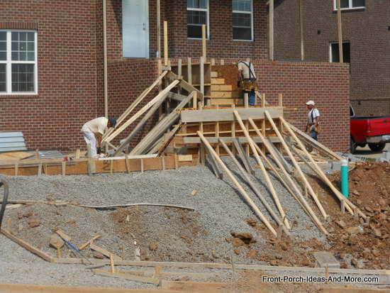 adding additional bracing for concrete