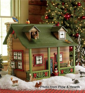 Advent cabin from Plow and Hearth