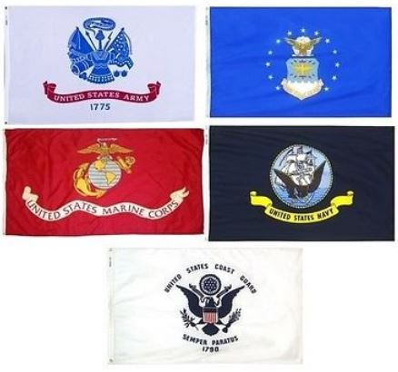 set of Armed Forces flags from Amazon