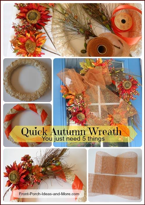 autumn wreath collage