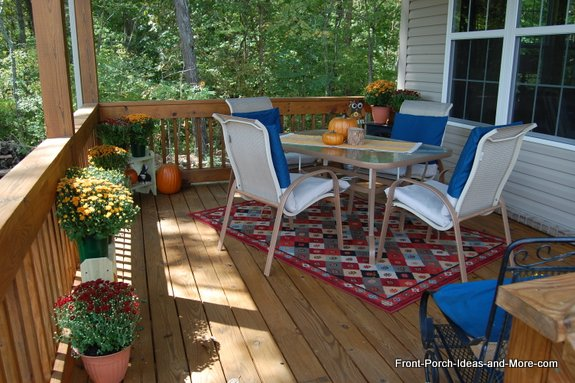 Our back porch was freshened up for autumn