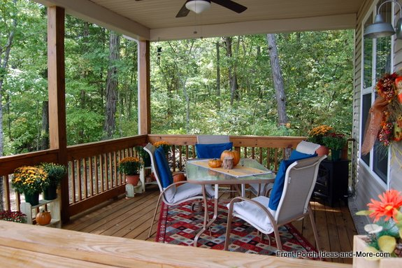 Our back porch has been freshened up for autumn and we want to share our ideas with you