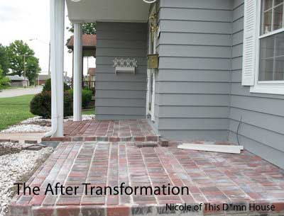 After - brick floor addition to porch