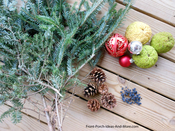 decorative items for Christmas bucket decorations