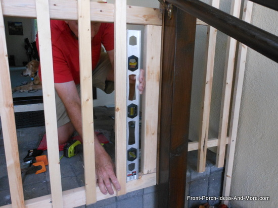 leveling fence pickets