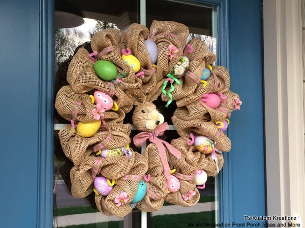 A country style bunny wreath is a favorite of ours